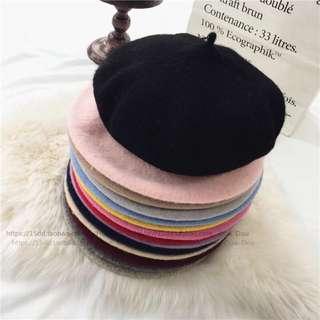 羊毛貝蕾帽