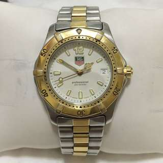 Authentic Tag Heuer Professional 2000 Series two-tone