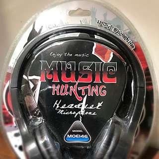 「全新品」耳罩式耳機麥克風 MOE146