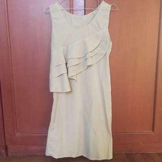 Ruffle Creme Dress