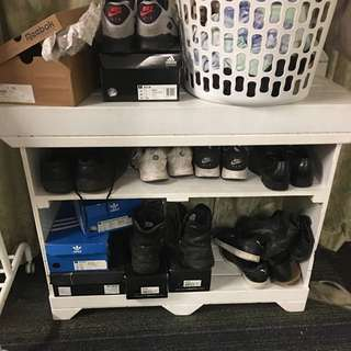 White Shoes Rack