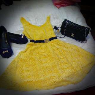 Yellow Dotti Dress