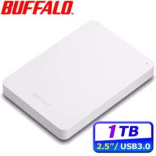 BUFFALO MiniStation PCF 1TB USB3.0 2.5吋行動硬碟-白