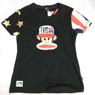 Black T Shirt Top Paul Frank