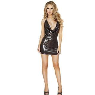 Roma Shimmer Cowl Neck Mini Dress
