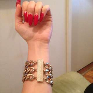 Bardot Gold Chain Bracelet With Magnetic Cusp