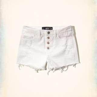 HCO女 高腰四排釦牛仔短褲(W27)