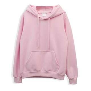 粉紅色內刷毛帽T