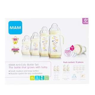 MAM Anti-Colic Baby Bottles - Starter Set (15 pieces)