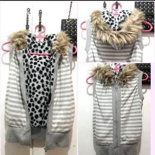 Winter Reversible Fur Hoodie