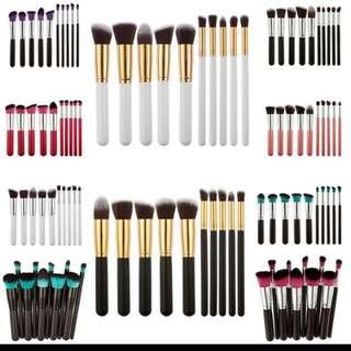 Make Up Brushes Set White And Gold