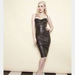 Wheels And Doll Baby Leather Dress