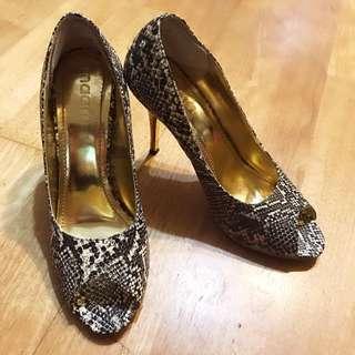 高根 蛇皮 鱷魚皮 紋 鞋魚口 金根 高根鞋 宴會 夜店 舞會 Party 鞋