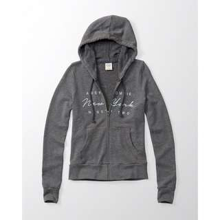 [全新正品]A&F灰色logo連帽外套