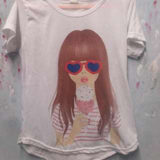 GIRL TUMBLR TEE FREE ONGKIR