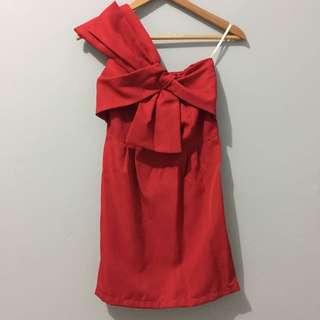 Red Mini Dress Bow