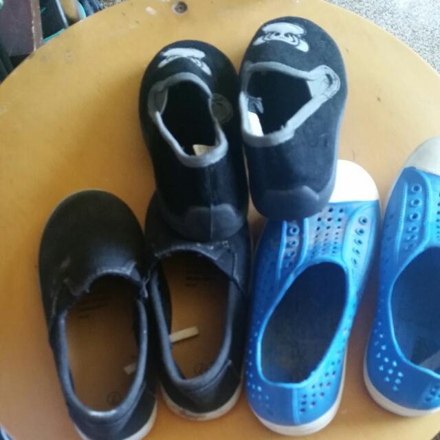 2x Slip On & 1x Slippers