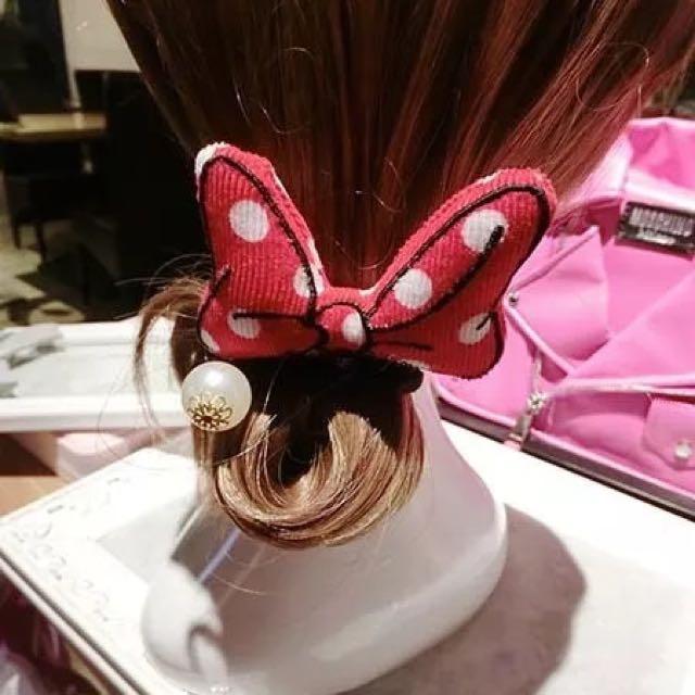 米妮蝴蝶結髮圈