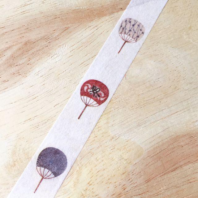 [和紙膠帶分裝]夏祭系列和紙膠帶-和風團扇