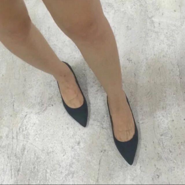 墨綠色尖頭鞋