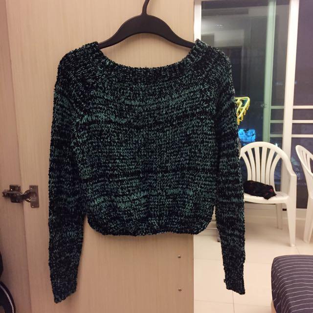 顏色超美👏🏻綠色針織上衣