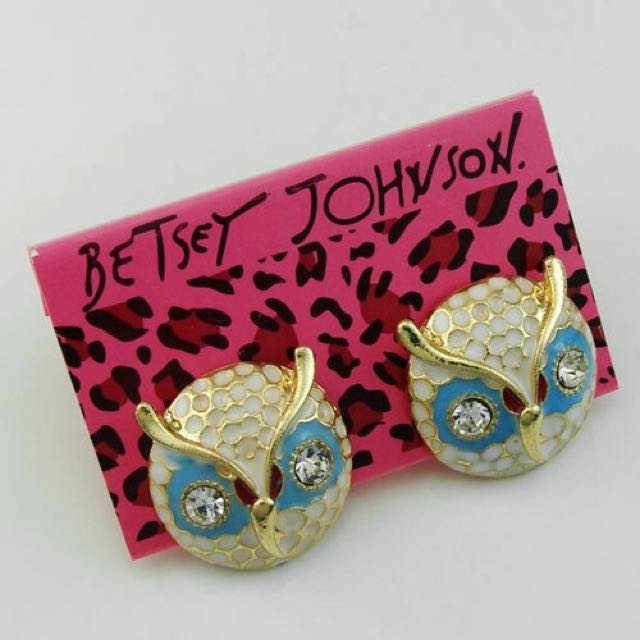 Betsy Johnson Owl Studs