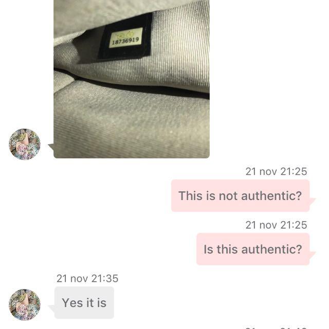 cfa82f365f13 Beware Of Sellers Selling Fake Chanel
