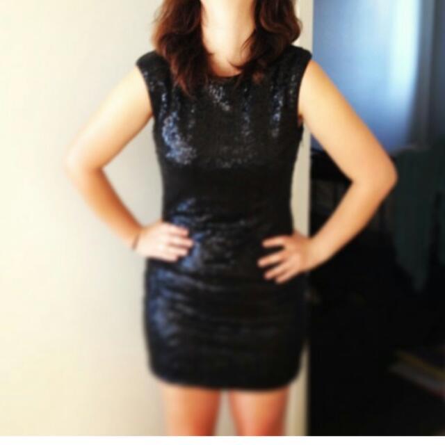 Black Sequin Dress Size 10