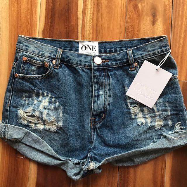 Brand New One Teaspoon Shorts Size 30