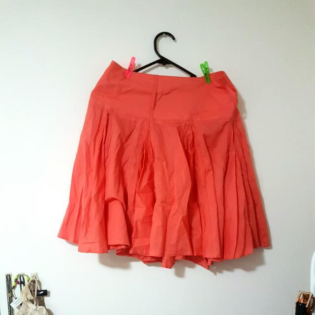 Bright Orange Skirt Sz 8 Witchery