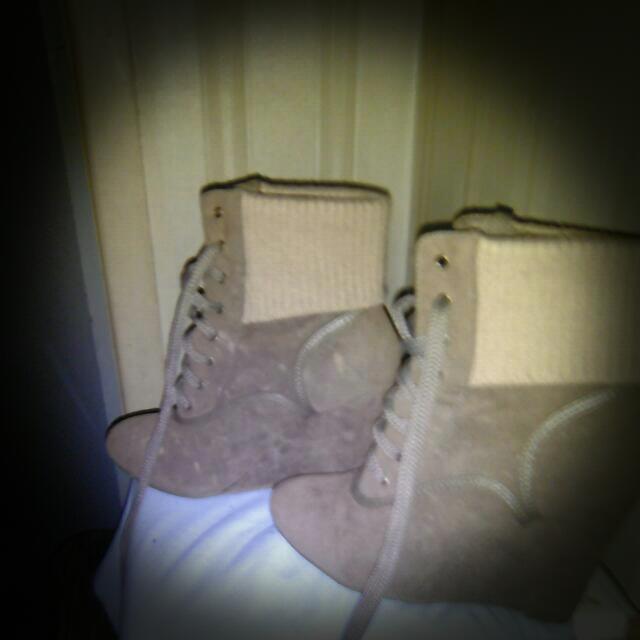 Brown Ankel Boot Wedges