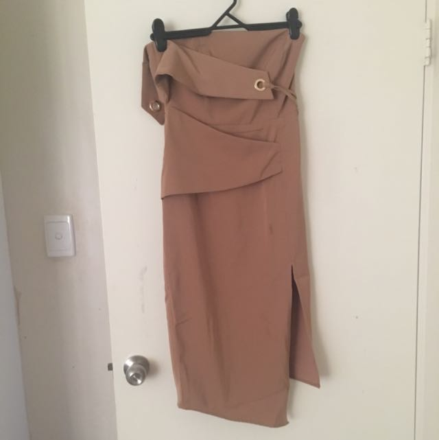 Brown Tight Dress
