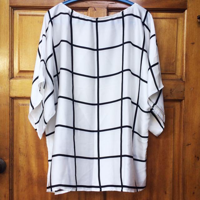 B&W Checkered Top