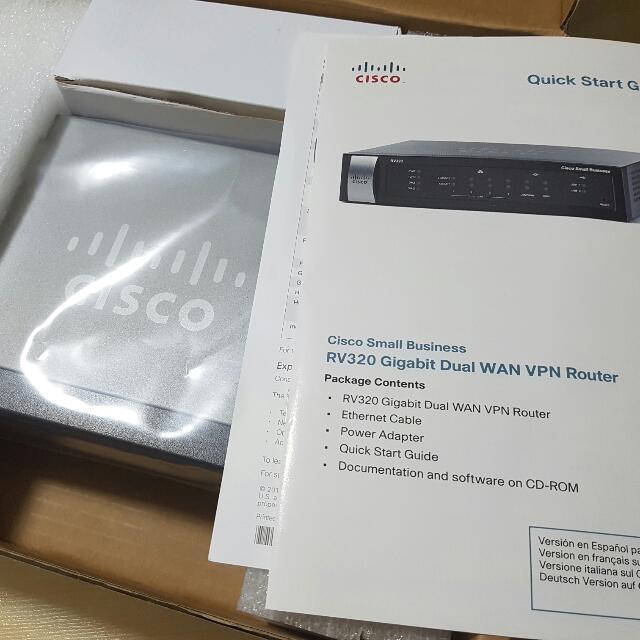 Cisco RV320 Dual Gigabit WAN VPN Router, Electronics