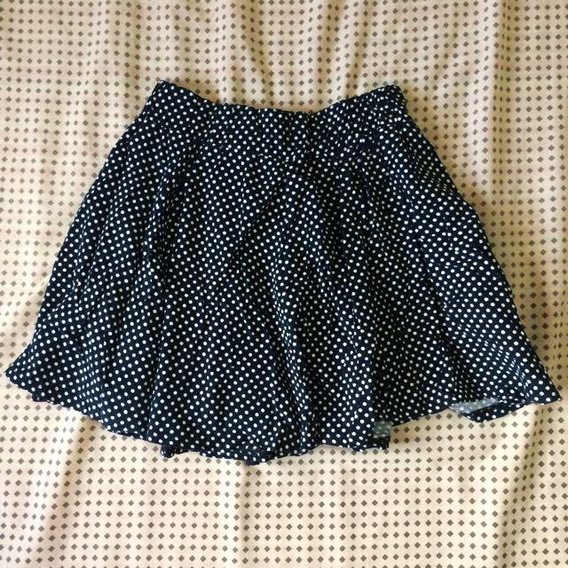 Corduroy Polka Skirt
