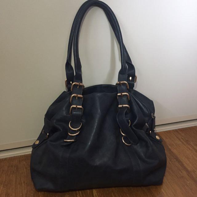 Dark Blue Colette Handbag Shoulder Bag Medium