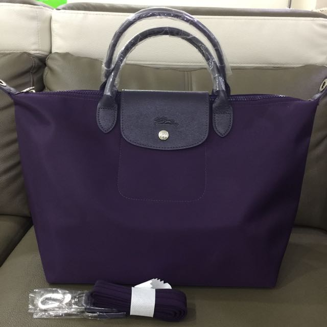 Dark Purple Longchamp Neo Medium Bag Luxury Bags Wallets On Carou