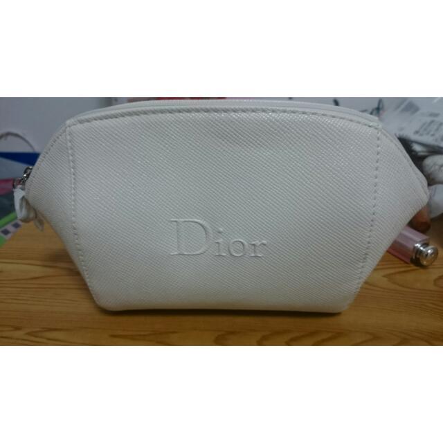 全新Dior白色化妝包