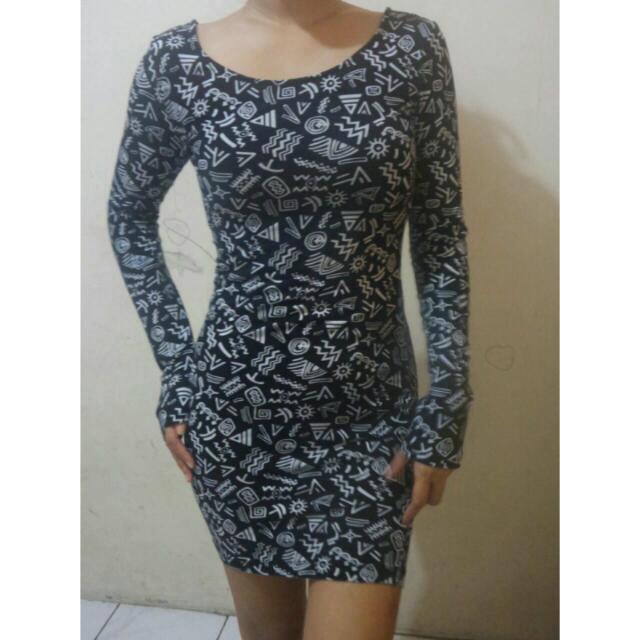 Reprice Dress Lengan Panjang XXI
