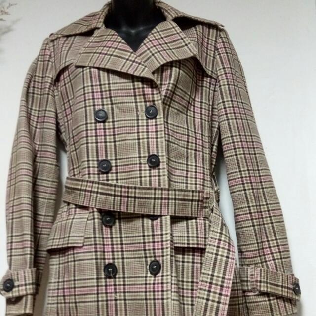 Esprit格子長版外套
