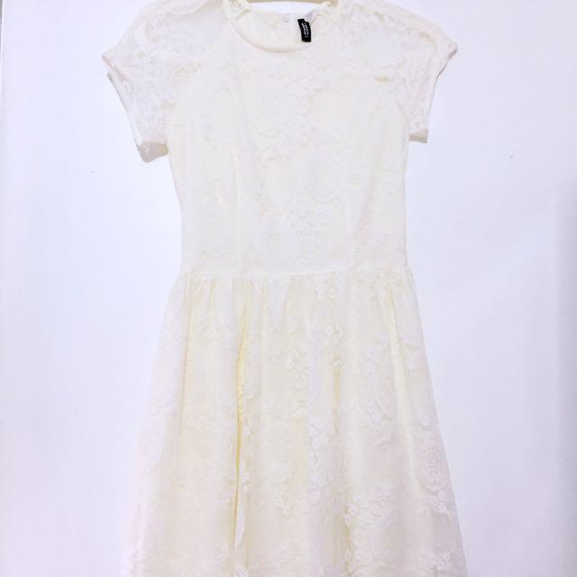 H&M Cream Dress