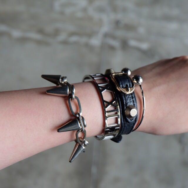 H&M Spiky Silver Bracelet