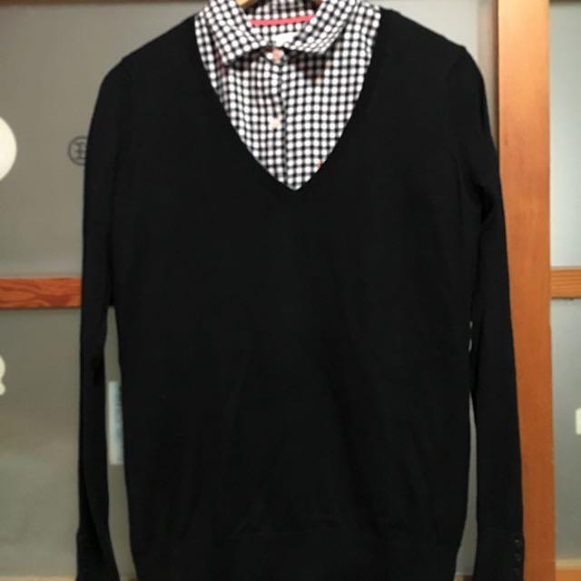 H&M V領毛衣