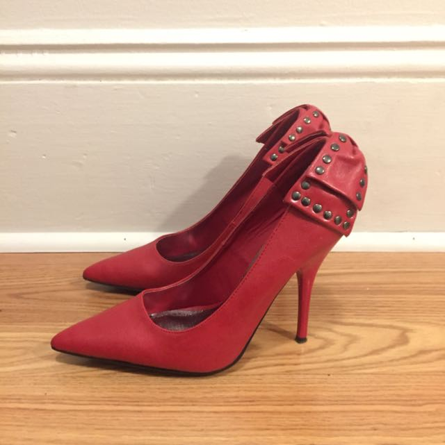 JustFab Red Heels