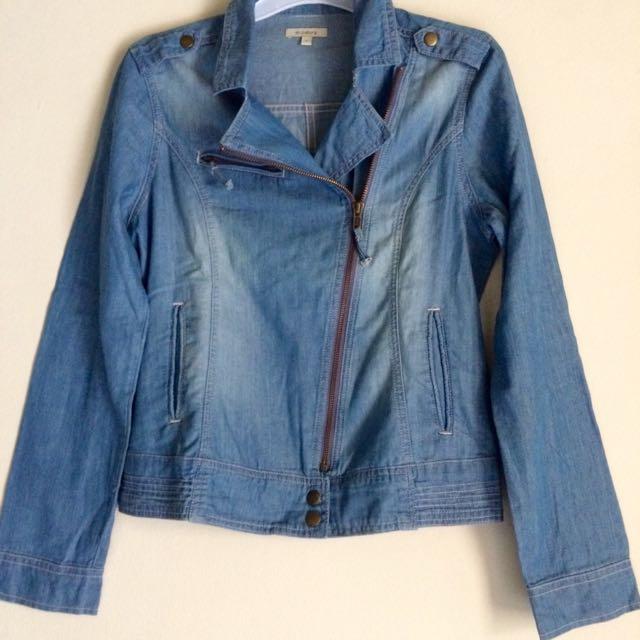 Kemeja Denim Model Jacket By Et Cetera