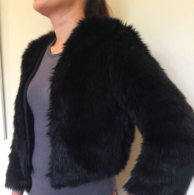 Kookai Faux Fur Jacket
