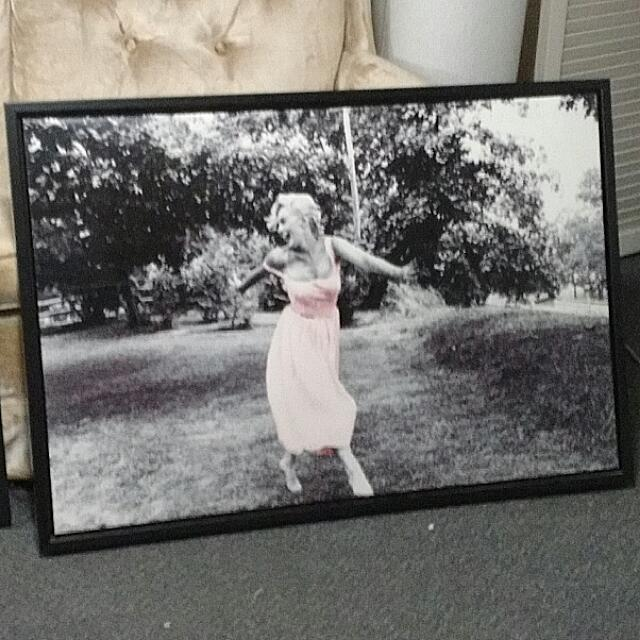 Marilyn Monroe Framed Canvas And Photo