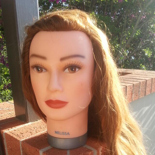 """Melissa"" Dateline Hair Mannequin Real Hair"
