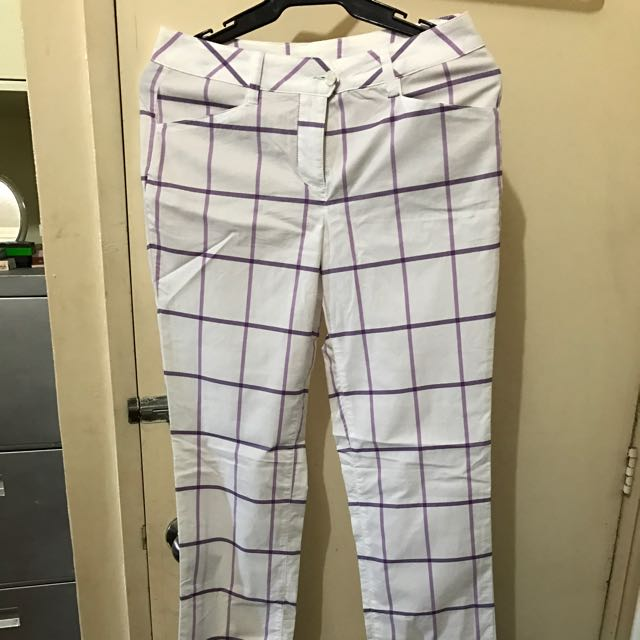 New Plaid / Checkered Pants Made In Italy / Tunisia