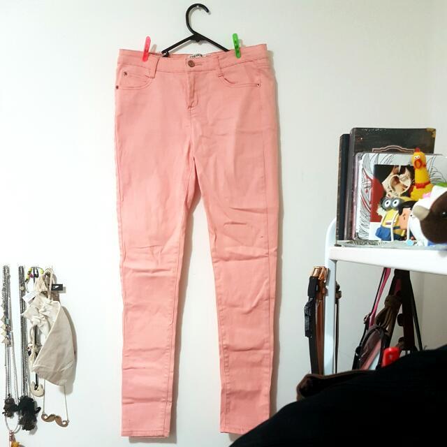 Pants Jeans Sz 12 Cotton On Pink